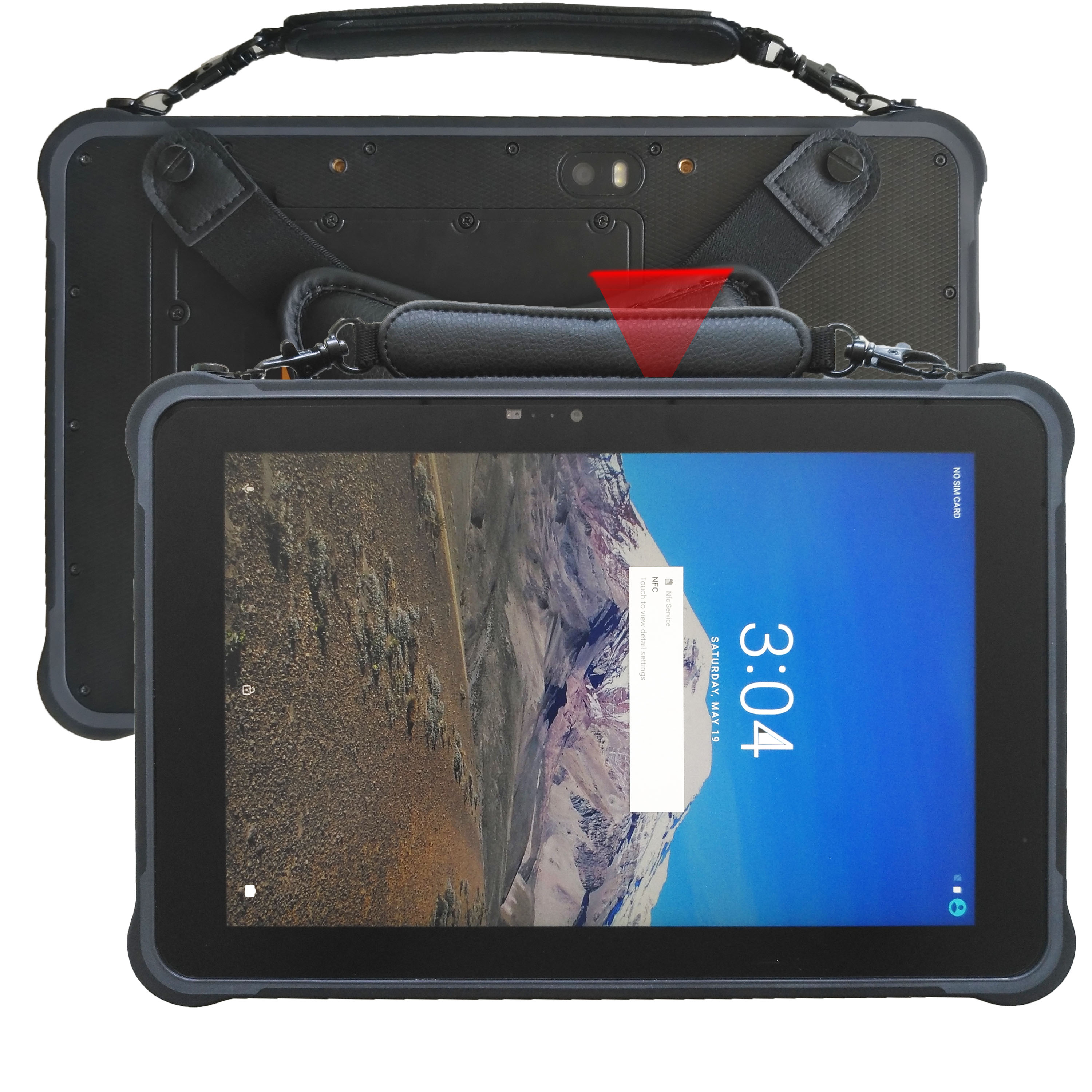 sunshine readable 10.1 inch hot swap android 7.0 rugged tablet