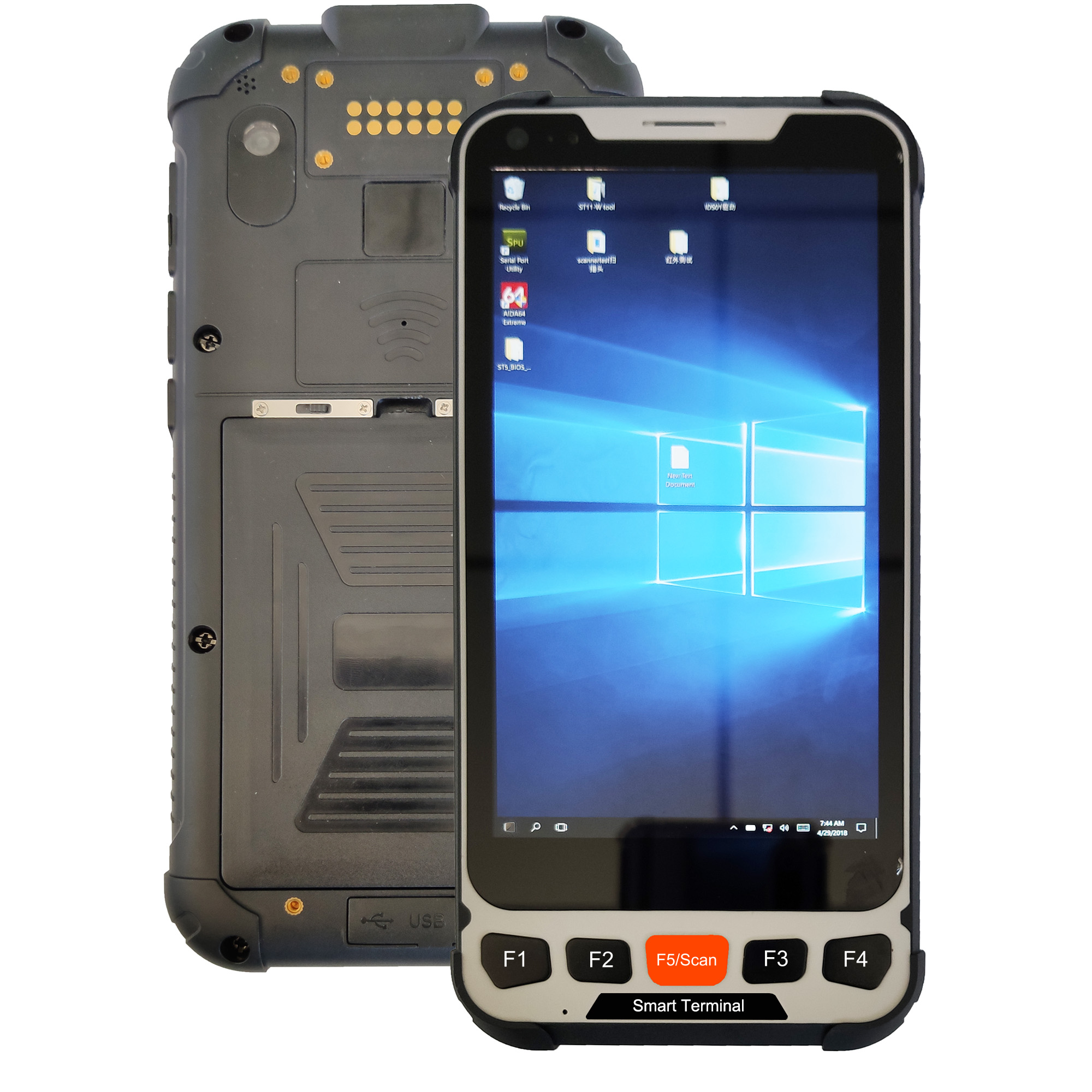 5 inch Windows Rugged Smart handheld terminal support UHF