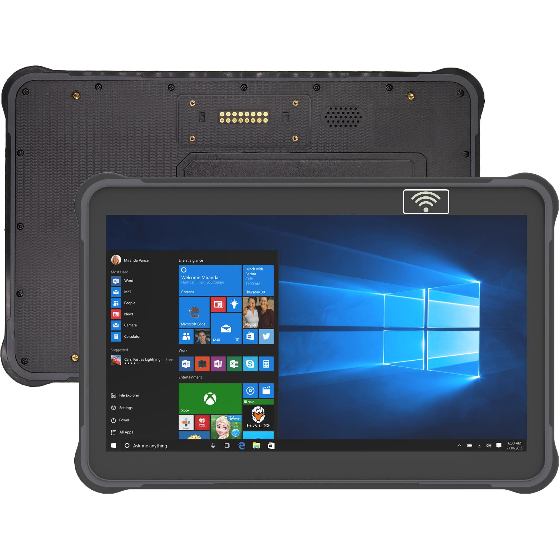 Front NFC 10.1 inch windows 10 rugged tablet