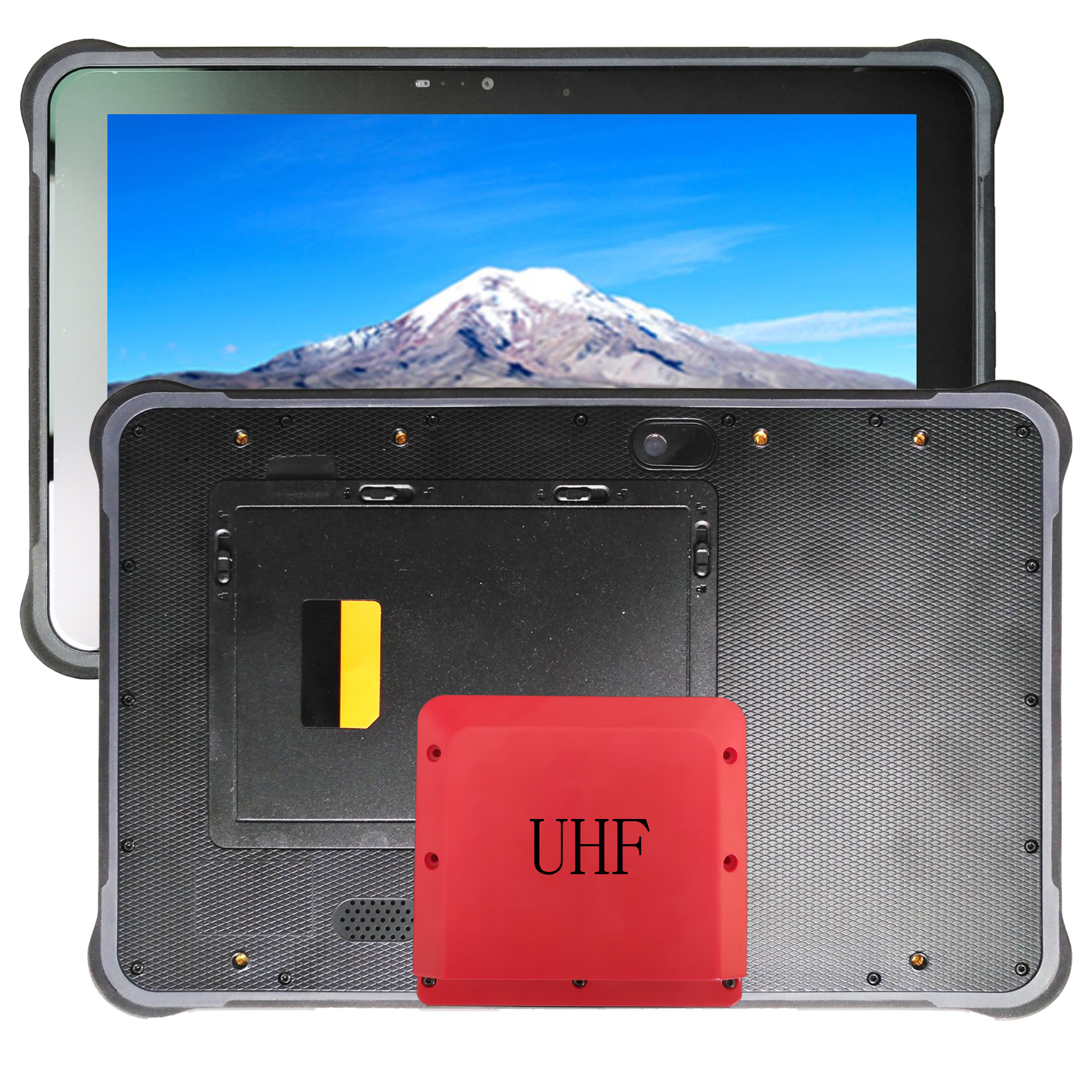 UHF 10.1 inch hot swap android 7.0 rugged tablet