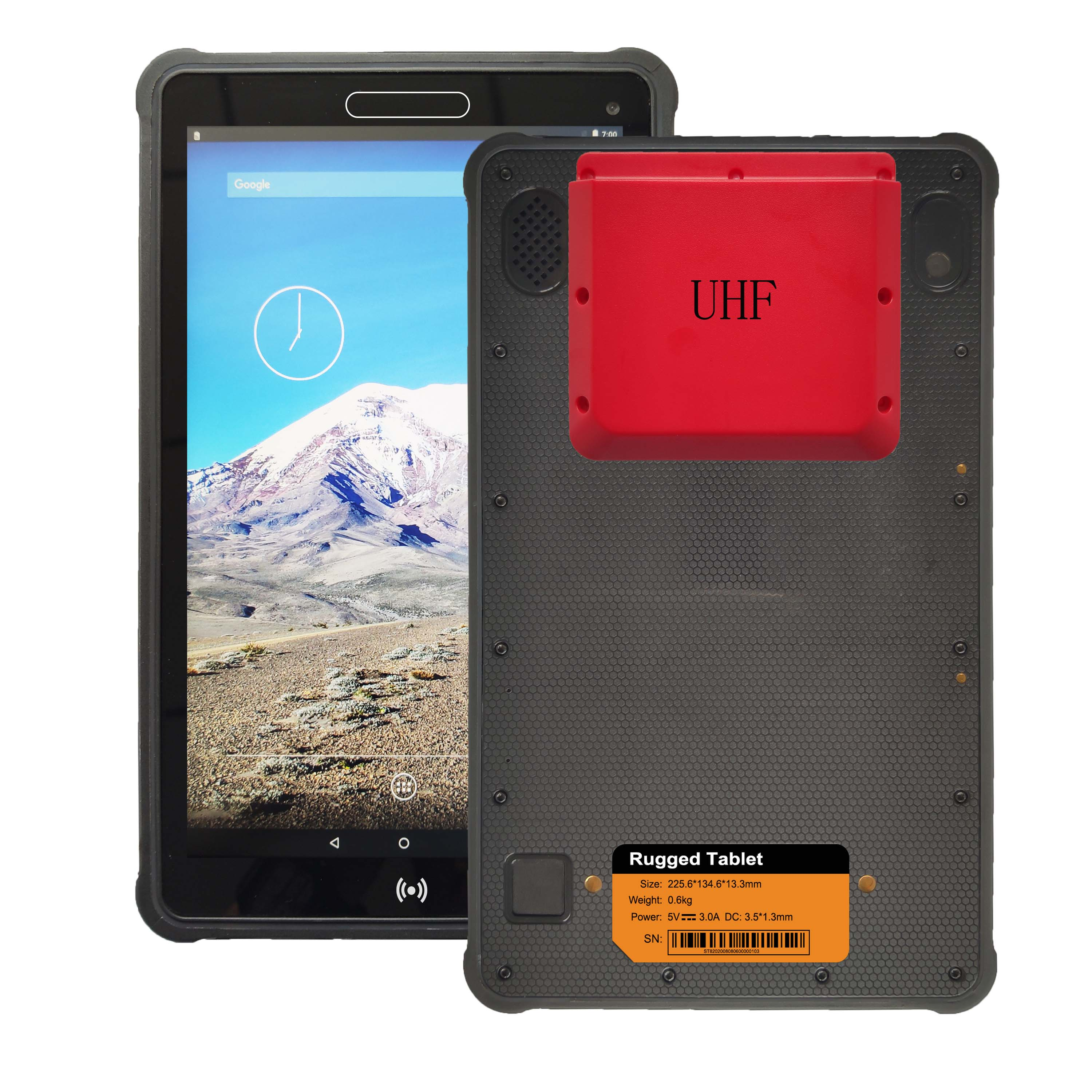 8 inch Windows 10 pro RFID UHF Rugged Tablet RT8